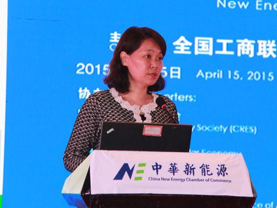 上图为国家发改委能源研究所副研究员胡润青。(图片来源:新浪财经 顾国爱 摄)