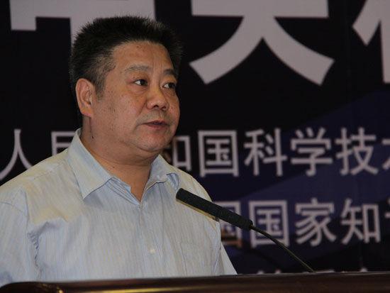 """""""中关村创新创业论坛""""作为科博会的重要活动于5月14日在北京召开。上图为北京万若环境有限公司董事长张健。(图片来源:新浪财经 梁斌 摄)"""