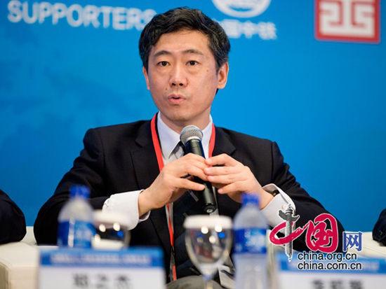 著名经济学家、清华大学中国与世界经济研究中心主任李稻葵发言(图片来源:中国网)