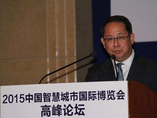 """""""2015中国智慧城市国际博览会高峰论坛""""于7月10日在北京举行。上图为马来西亚中小企业协会会长Ten Keesin。(图片来源:新浪财经)"""
