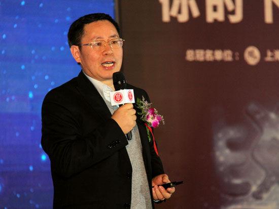 """第十六届""""学习型中国——世纪成功论坛""""于2015年12月30日-2016年1月1日在北京举行。上图为用友网络科技股份有限公司董事长兼CEO王文京。(图片来源:新浪财经)"""