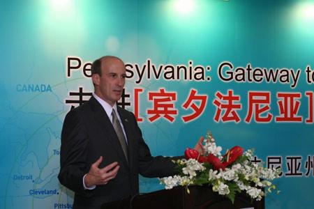 美国宾州出动政府代表团吸引中国企业海外投资