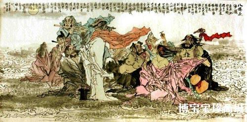 狄少英国画八仙过海图