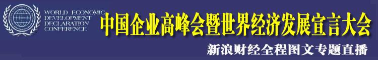 中国企业高峰会暨世界经济发展宣言大会