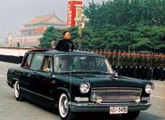 1984年10月1日邓小平乘坐红旗车阅兵
