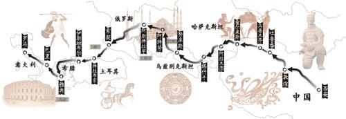 穿越八国从西安到罗马 丝绸之路复兴之旅启幕(图)