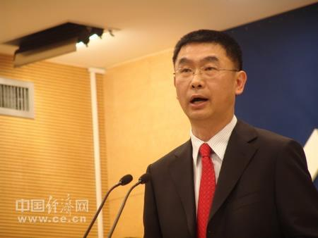 图为商务部发言人姚坚。中国经济网记者 郭彩萍摄。