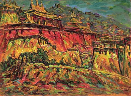 """西藏自治区美术家协会联合主办的""""魅力西藏——当代油画家作品展"""