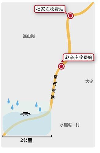 京石高速暴雨依旧收费遭质疑 回应称无停收规定