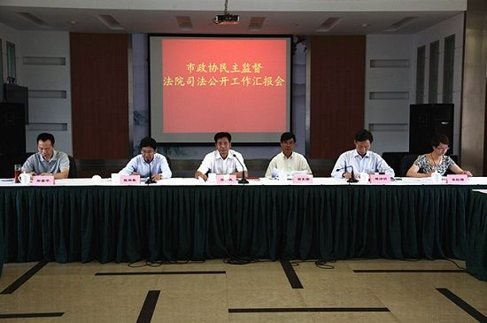 杭州临安市法院召开市政协监督法院司法公开工作汇报会