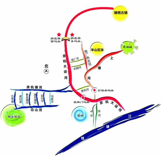 市民游客国庆可乘水上公交游览杭州(图)