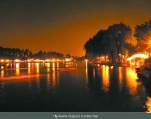 北京:什刹海减亮还原夜色 月亮重新成主角(图)