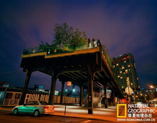"""【微博】纽约:废弃铁路变身""""高架公园""""(图)"""