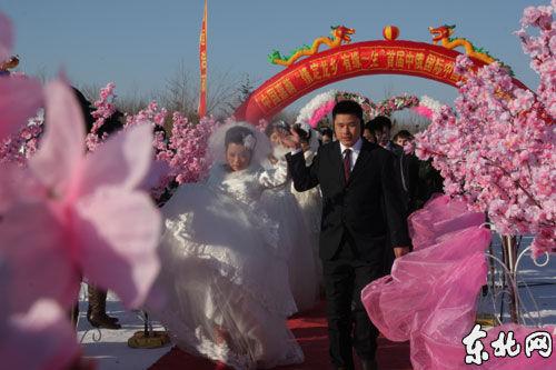 """黑龙江:二月二 二十二对新人""""龙乡""""结龙缘"""