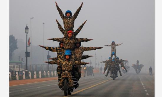印度国庆日阅兵图 图片来源于网络