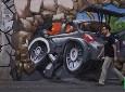 赛车与3D街头艺术