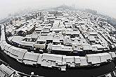 绍兴城雪景
