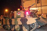 消防坦克赶赴现场