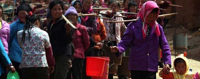 村民难舍家园在干旱中苦苦支撑