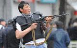 示威者射击