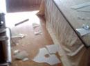 居民家中玻璃破碎
