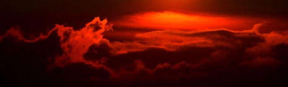 杭州市区上空出现流火云景观