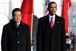 胡锦涛出席白宫欢迎仪式