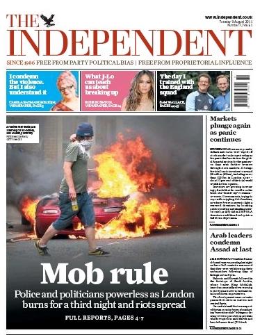 英国《独立报》:暴民统治