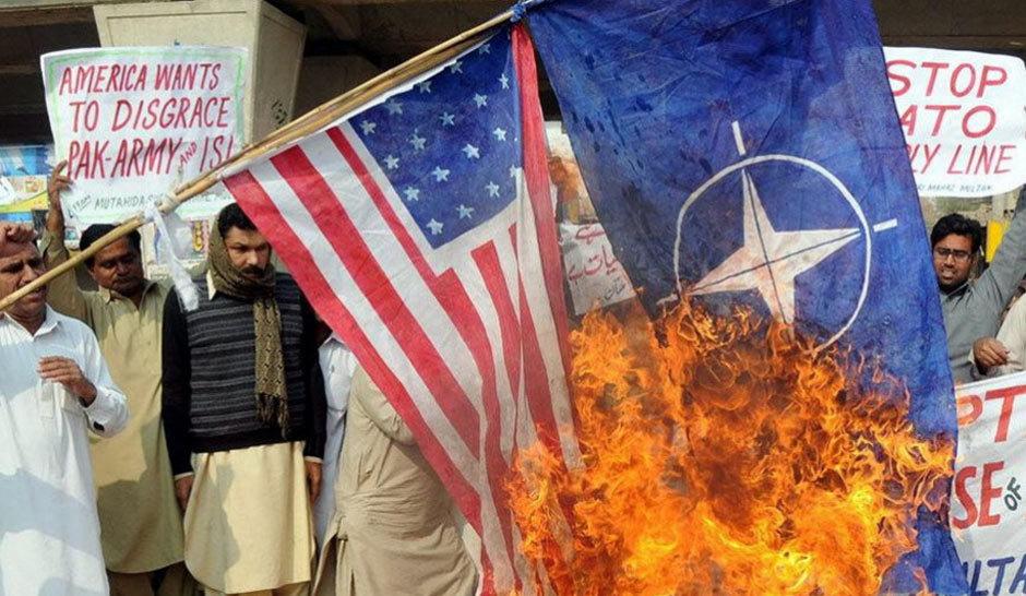 巴基斯坦爆发反美反北约示威