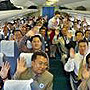 2003年09月韩国首批100多名游客乘机前往平壤旅游