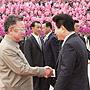 2007年10月金正日平壤亲迎卢武铉