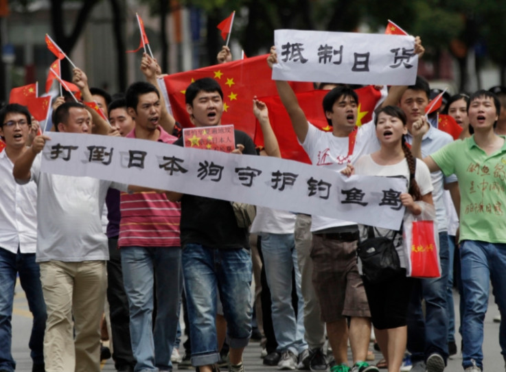 上海反日游行现场