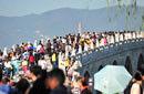 国庆长假景区人潮汹涌 北京百万人逛公园