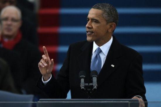 美国总统奥巴马发表第二任期就职演讲