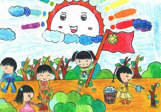 儿童雾霾卡通图画