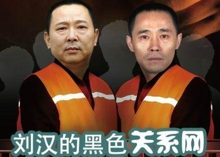 图解刘汉涉黑组织关系网