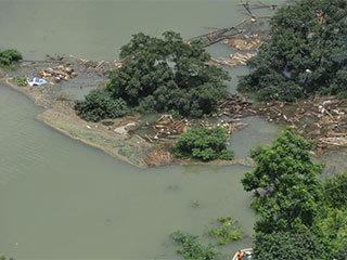 震区堰塞湖水位继续上涨