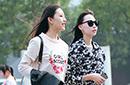 街拍秋季北京时尚辣女