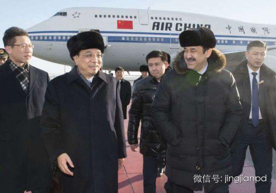 马西莫夫在机场接李克强