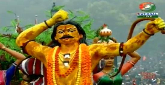 """塔伦加纳邦想表现的是印度传统节日""""奉食节""""……"""