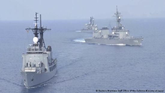今年5月12日,日本派出两艘驱逐舰同菲律宾最先进的护卫舰举行联合军演