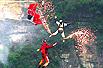 重庆奉节天坑跳伞