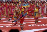 图文:起点处的萨满舞蹈表演