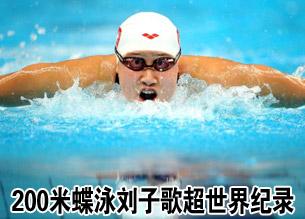 200米蝶泳刘子歌超世界纪录