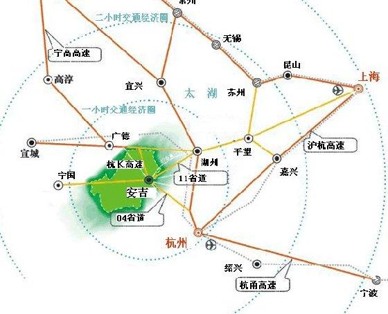 浙江省安吉县区域位置