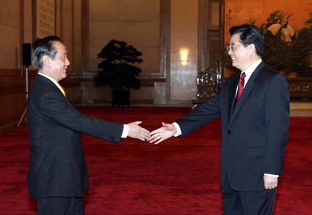 胡锦涛就当前发展海峡两岸关系提出四点看法