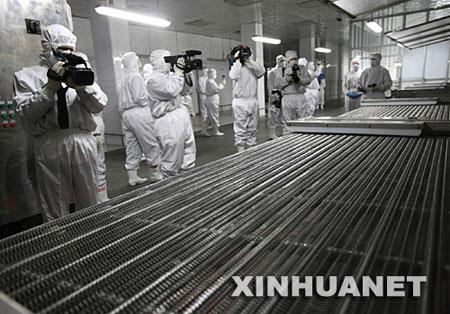 多家中外媒体参观日水饺中毒事件所涉企业(图)