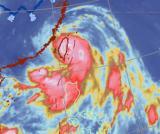 强台风凤凰在台湾花莲南部沿海登陆