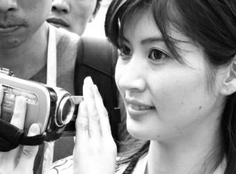 日本美女记者补拍小故事
