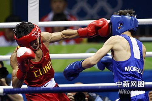 图:邹市明拳台夺冠为中国摘第50金
